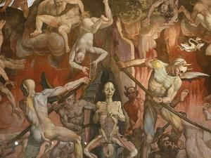 Detail of Hell from Last Judgment, Fresco Cycle by Frederico Zuccaro