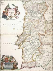 Map Showing Portugal, C.1680 by Frederik de Wit