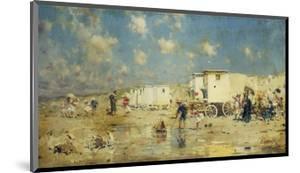 The Beach at Scheveningen, Holland by Frederik Hendrik Kaemmerer