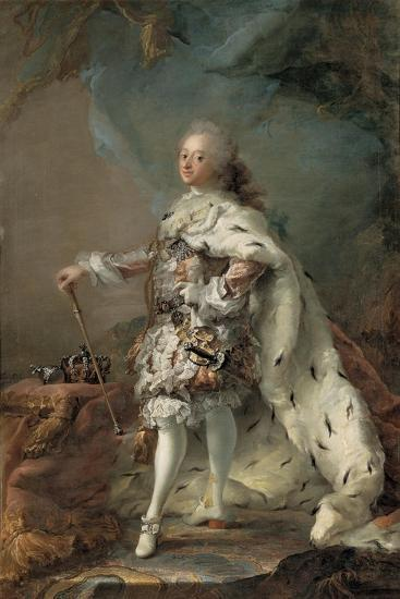 Frederik V in his Anointing Robes, c. 1750-Carl Gustaf Pilo-Giclee Print