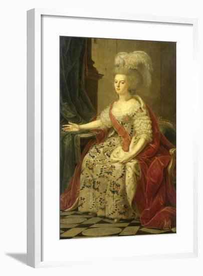 Frederika Sophia Wilhelmina of Prussia, Wife of Prince Willem V-Benjamin Samuel Bolomey-Framed Art Print