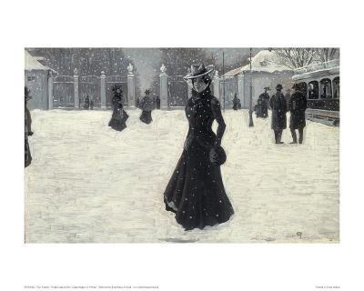 Frederiksborg Park, Copenhagen in Winter-Paul Fischer-Giclee Print