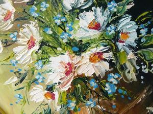 Oil Painting Flowers by fredleonero
