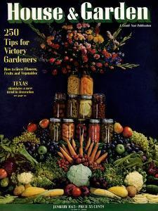 House & Garden Cover - January 1943 by Fredrich Baker