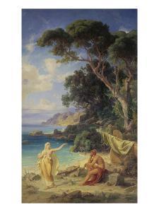 Odysseus Taking Leave of Calypso, 1864 by Fredrich Preller