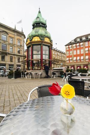 Cafe at Kongens Nytorv, Copenhagen, Sjaelland, Denmark