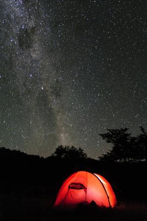 Hilleberg Tent under the Night Sky, Patagonia, Aysen, Chile