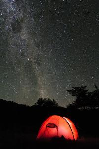 Hilleberg Tent under the Night Sky, Patagonia, Aysen, Chile by Fredrik Norrsell