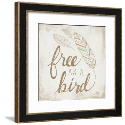 Free as a Bird Beige-Laura Marshall-Framed Art Print