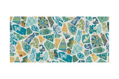 Free Bird Spanish Tiles-Daphne Brissonnet-Art Print