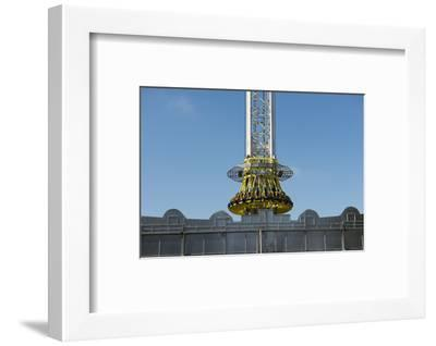 Free Fall Tower 'Sky Fall' at the Oktoberfest, Munich-Christine Meder stage-art.de-Framed Photographic Print