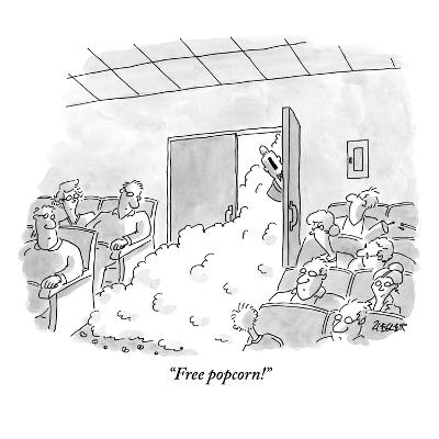 """Free popcorn!"" - New Yorker Cartoon-Jack Ziegler-Premium Giclee Print"