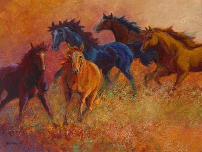 Free Range Horses-Marion Rose-Giclee Print