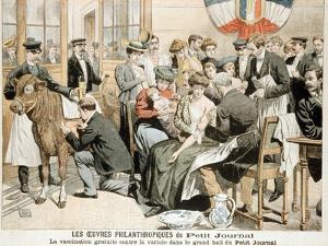 Free Smallpox Vaccination Clinic on Premises of French Newspaper, Paris