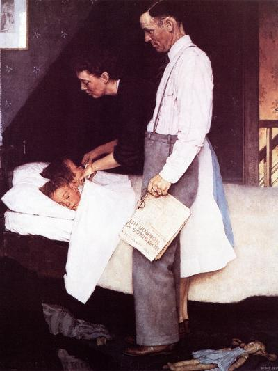 """""""Freedom From Fear"""", March 13,1943-Norman Rockwell-Giclee Print"""