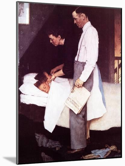 """""""Freedom From Fear"""", March 13,1943-Norman Rockwell-Mounted Giclee Print"""
