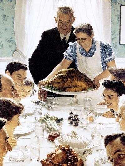 """Freedom From Want"", March 6,1943-Norman Rockwell-Giclee Print"