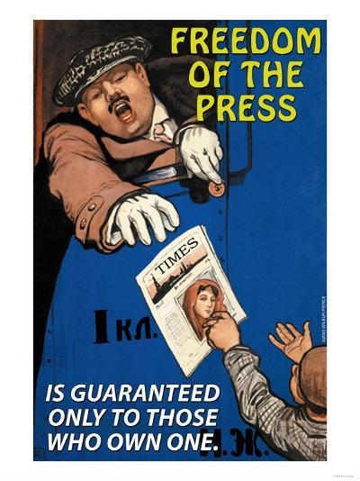 Freedom of the Press--Art Print