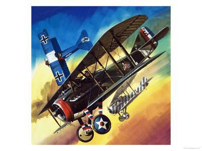 Freedom of the Skies: Yankee Super Ace. Edward Rickenbacker-Wilf Hardy-Giclee Print