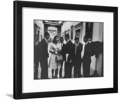 Freedom Riders at Justice Dept-Ed Clark-Framed Photographic Print