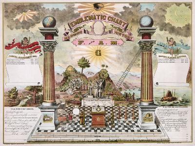 Freemason Emblematic Chart--Giclee Print
