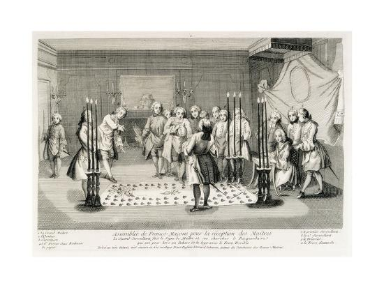 Freemasonry Assembly to Receive the Masters--Art Print