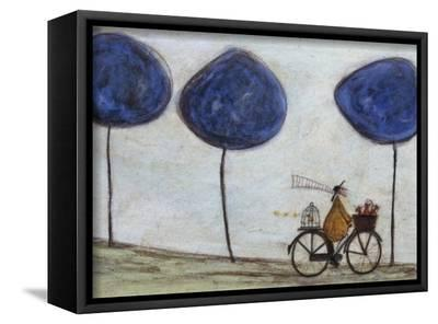 Freewheelin' with Joyce Greenfields and the Felix 3-Sam Toft-Framed Canvas Print