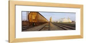 Freight Train on a Railroad Track, Webberville, Ingham County, Michigan, USA