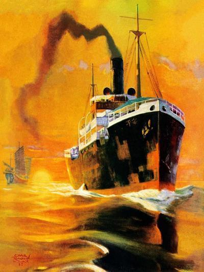 """""""Freighter,""""December 14, 1935-Edgar Franklin Wittmack-Giclee Print"""