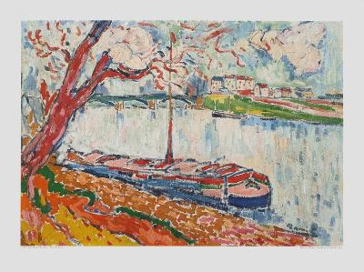 Freighter on the Seine at Chatou-Maurice de Vlaminck-Collectable Print