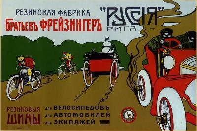 Freizinger Brothers Rubber Plant in Riga for Bicycle and Car Tires--Art Print
