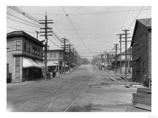 Fremont Avenue looking North Photograph - Seattle, WA-Lantern Press-Art Print