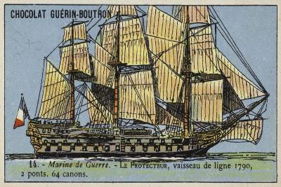 French 64 Gun Ship of the Line Protecteur, 1790--Giclee Print