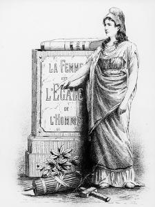 A Woman Is Equal to a Man, Printed by Lemercier and Co., Paris, 1881 (Litho) by French