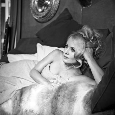 """French Actress Marie-France Boyer on the Set of the Film """"Sin with a Stranger"""" June 27, 1967--Photo"""