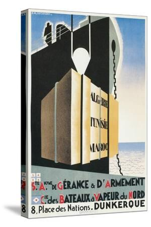 French Ad for Steamship Line Port, Dunkirk