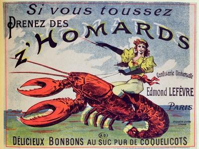 Advertisement for Cough Sweets 'Z'Homards', Late Nineteenth Century (Colour Litho)