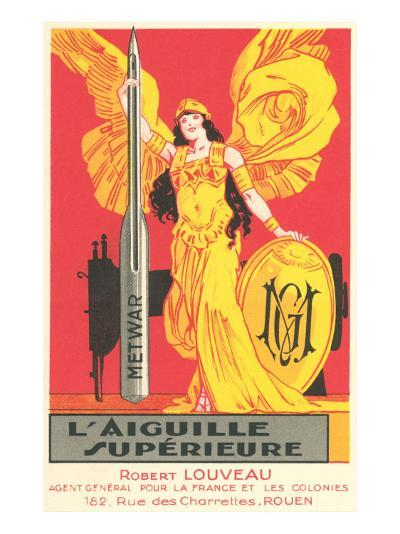 French Advertisement for Sewing Needle--Art Print