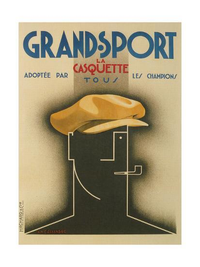 French Advertisement for Sporty Cap--Giclee Print