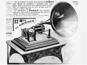 Advertisement for the Phonograph, C.1905 (Engraving) (B/W Photo) by French