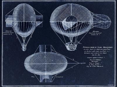 French Airship Balloon 1784-Tina Lavoie-Giclee Print