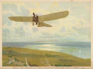 French-American Aviator John Moisant Flies Paris-London in His Bleriot Monoplane