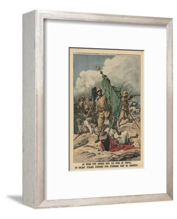 An Italian Soldier Seizing the Green Standard of Prophet Muhammed