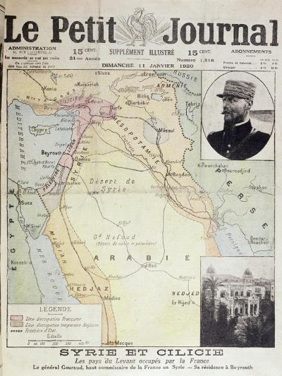 French and English Zones of Influence in the Middle East--Giclee Print