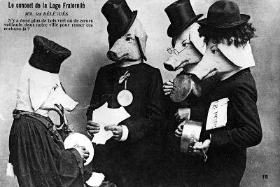 French Anti-Masonic Postcard, 20th Century--Giclee Print