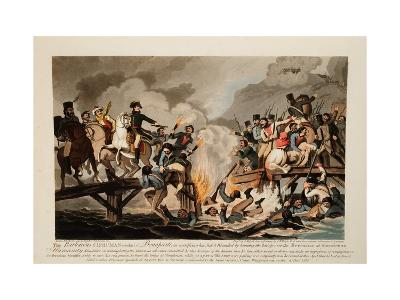 French Army Crossing the Berezina in November 1812, 1813-John Hassell-Giclee Print
