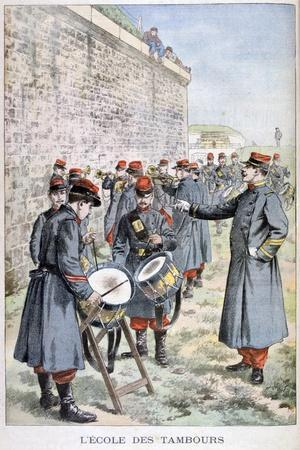 French Army Drum School, 1903--Giclee Print