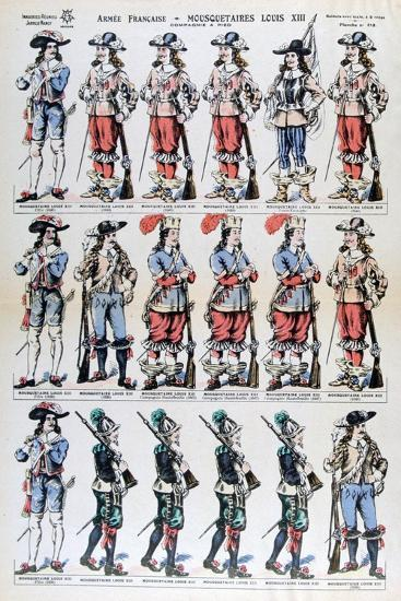 French Army, Musketeers of Louis XIII, 17th Century--Giclee Print