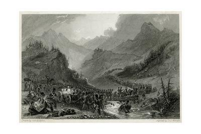 French Army Retreat from Arroyo de Molinos, 1811-J.t. Willmore-Giclee Print