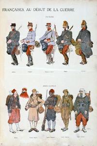 French Army Uniforms, World War One, 1914